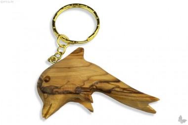 Schlüsselanhänger Delphin Olivenholz