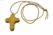 Lateinisches Kreuz am Lederband