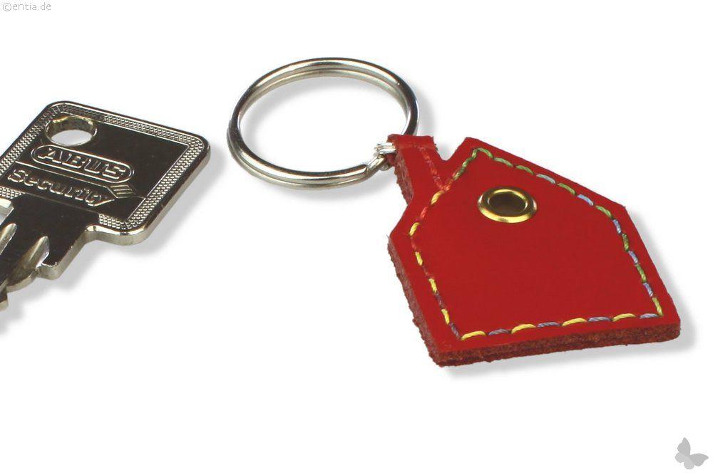 Schlüsselanhänger Leder Haus