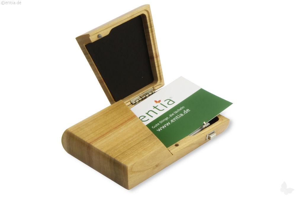 visitenkarten etui kirsche lackiert nachhaltiges aus. Black Bedroom Furniture Sets. Home Design Ideas