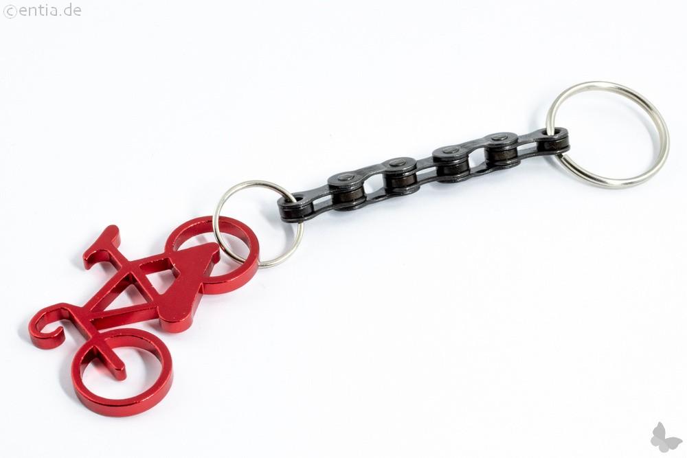 Schlüsselanhänger Fahrrad rot