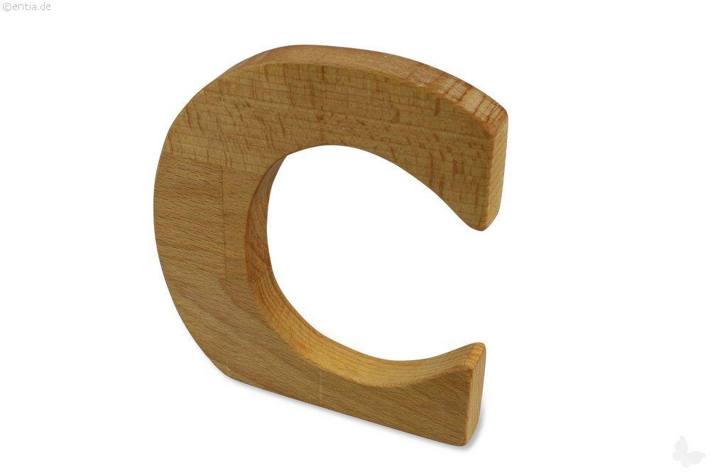 Holz-Buchstabe C
