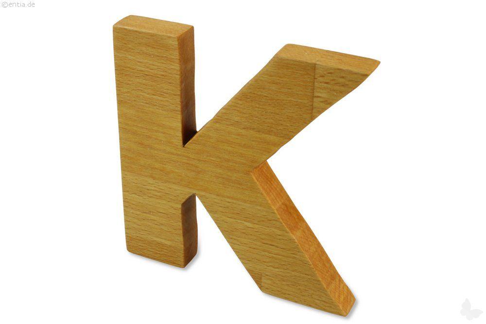 Holz-Buchstabe K
