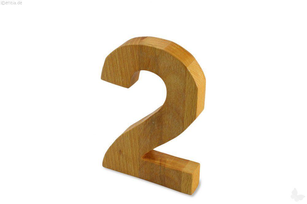 Holz-Ziffer Zwei