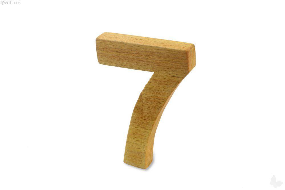 Holz-Ziffer Sieben