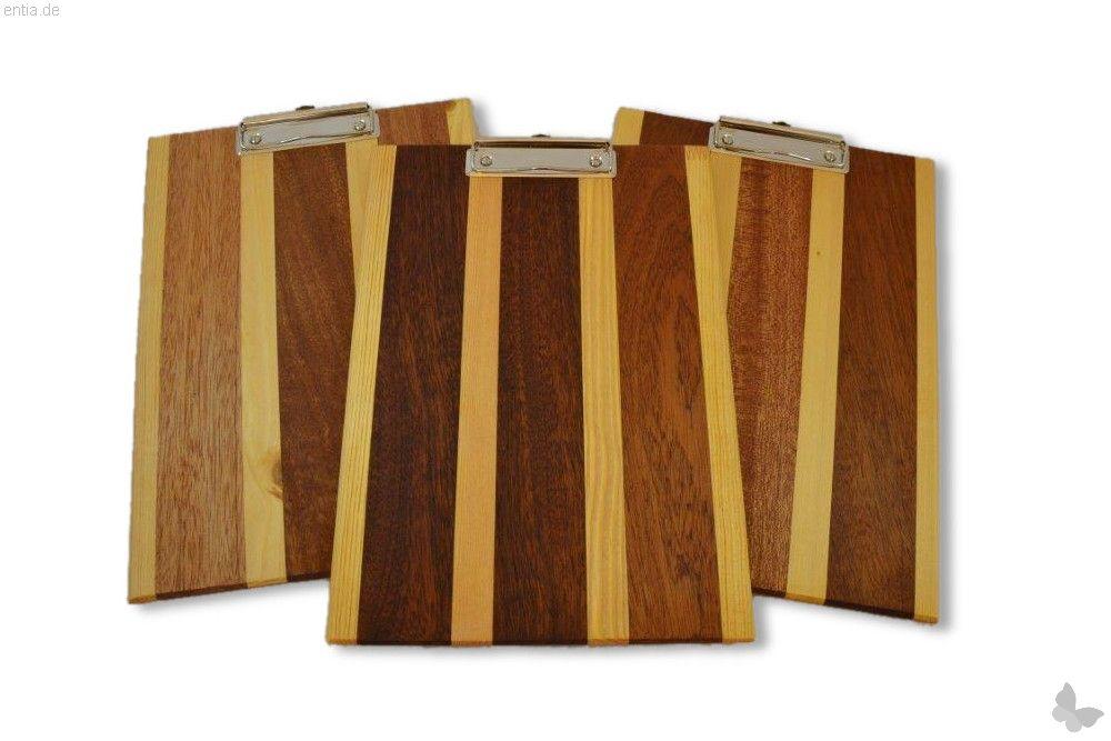 Klemmbrett aus stilvollem Holz, A4, dunkel gestreift | Nachhaltiges ...